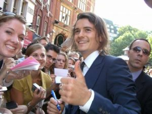 Meeting Orlando Bloom at the Pirates of the Caribbean: Dead Man's Chest Premier in London